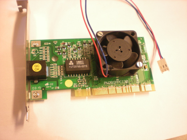 card with fan